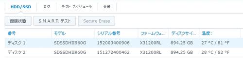 SSDアイドル室温26度