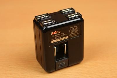 出力側は5V2AなのでiPadやNexus7も同時に充電可能