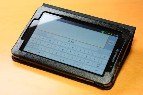 Lenovo IdeaPad Tablet A1用専用レザーケース_キー入力状態