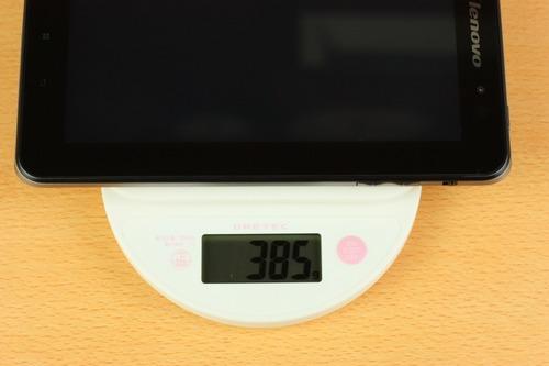 Lenovo IdeaPad Tablet A1は385g