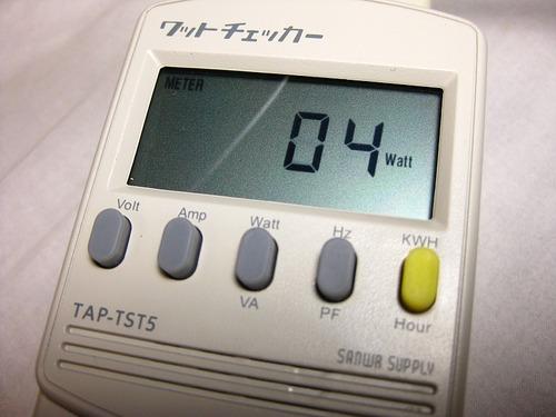 サブパソコン待機電力