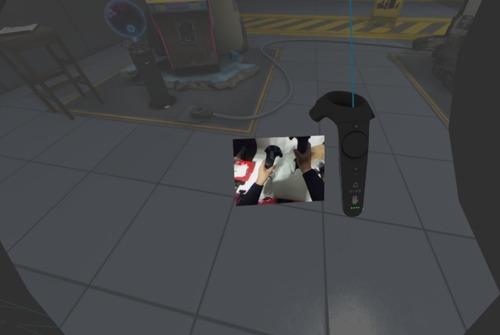 コントローラー位置のカラー映像を表示