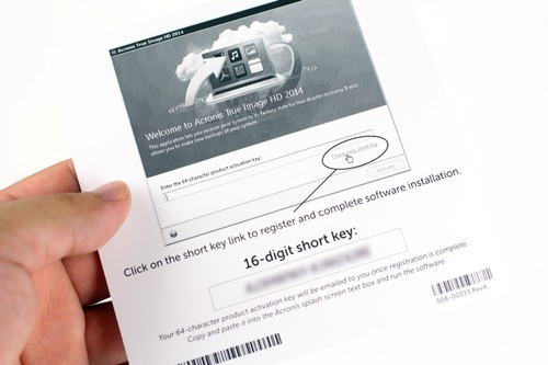 Acronis True Image 2014のライセンスコード