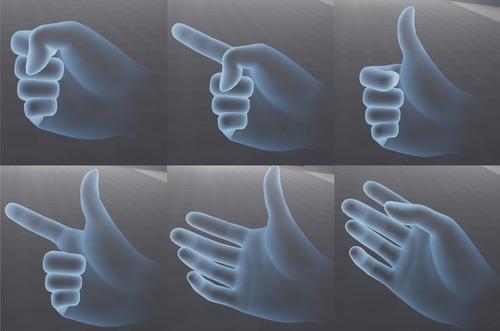 指の状態をトラッキング