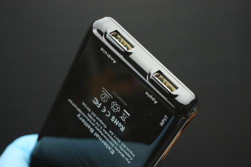 充電用USBポートは2つ