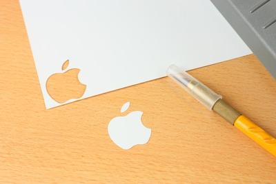 プロッターでAppleロゴを切り出し