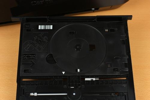 上段トレイ裏にはディスク印刷用のトレイ格納