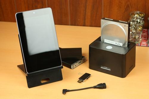 Nexus7とマイクロUSB OTGケーブルで何処までできる?