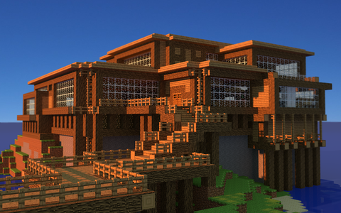 Minecraft-House-HD-Wallpaper