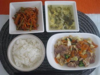6月18日野菜炒めランチ1