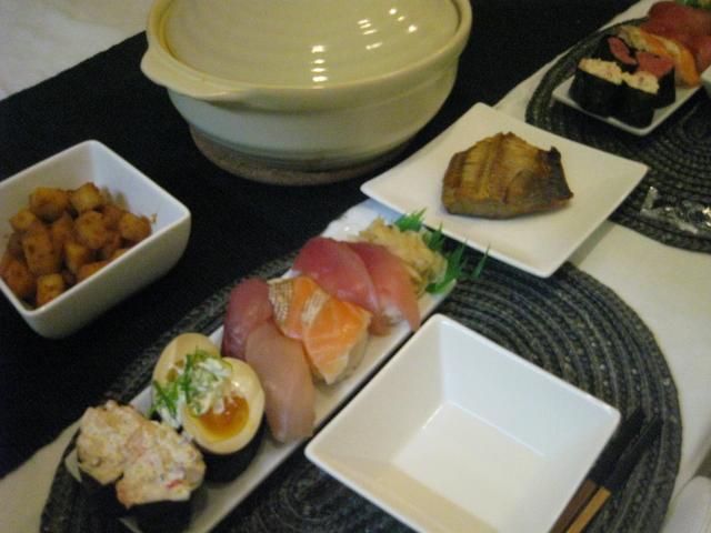 4月25日鍋とくら寿司