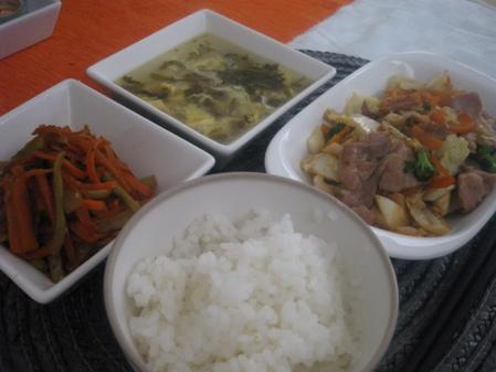 6月18日野菜炒めランチ2