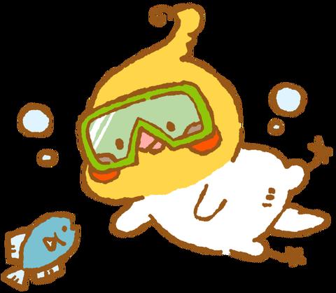【フリー素材】ダイビングオカメインコ