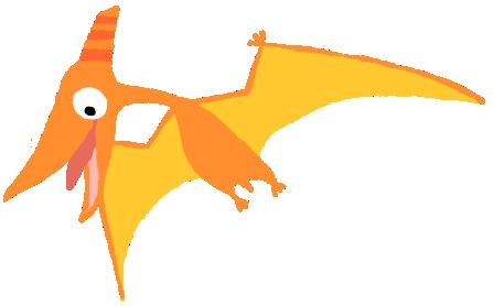 【フリー素材】翼竜プテラノドン