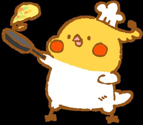 【フリー素材】お料理上手オカメインコ