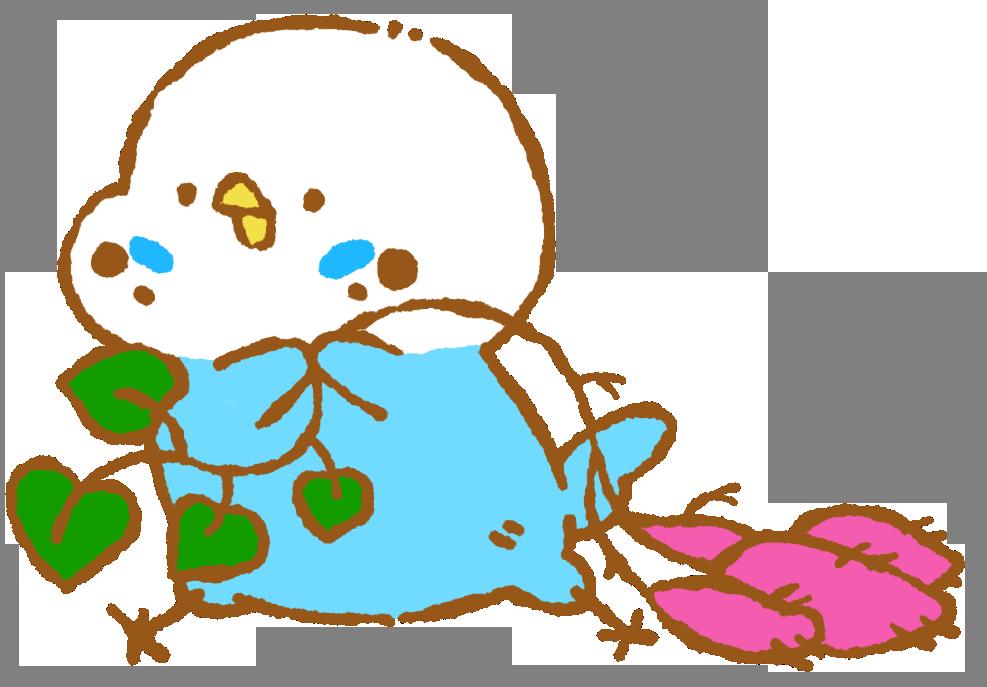 サツマイモとったー セキセイインコ Inconfuoco インコンフォーコ 小鳥まみれのイラストblog