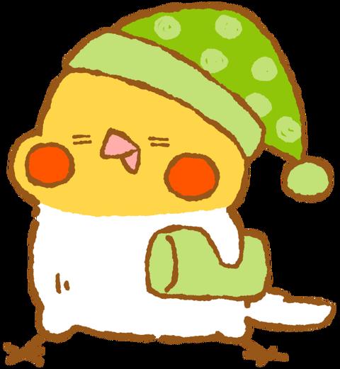 【フリー素材】眠気MAXオカメインコ