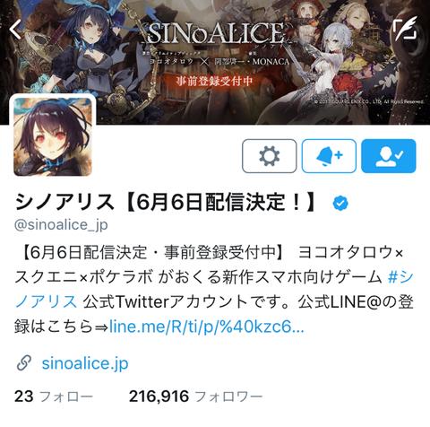 シノアリス Twitter