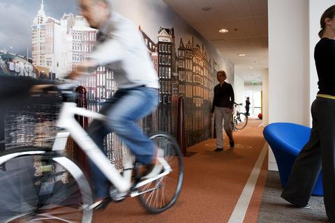Netherlands bike hallway