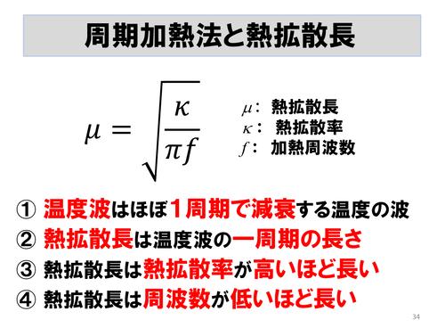 熱拡散長の式