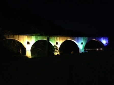 夜めがね橋