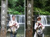 10/08/13 軽井沢の旅:白糸の滝にて(2)