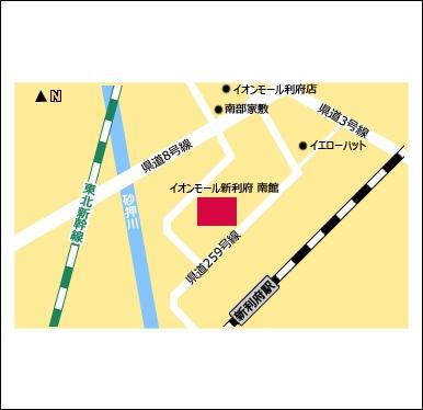 ドコモショップ新利府南館店地図