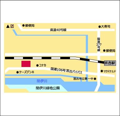 ドコモショップ宮古店地図