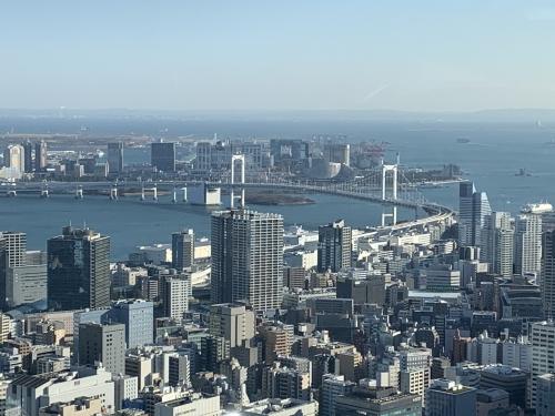東京タワーから見えるレインボーブリッジ