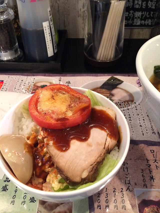 中華そばかなでローストトマト丼