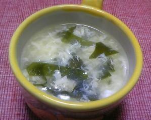 筍とワカメの卵スープ