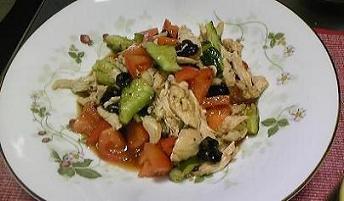 鶏のオイスターサラダ
