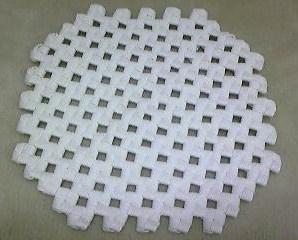 石畳編みの鍋敷き