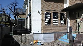 庭入り口の塀