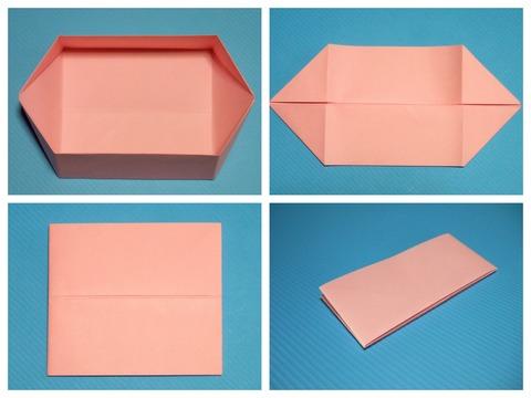 六角容器の折り畳み