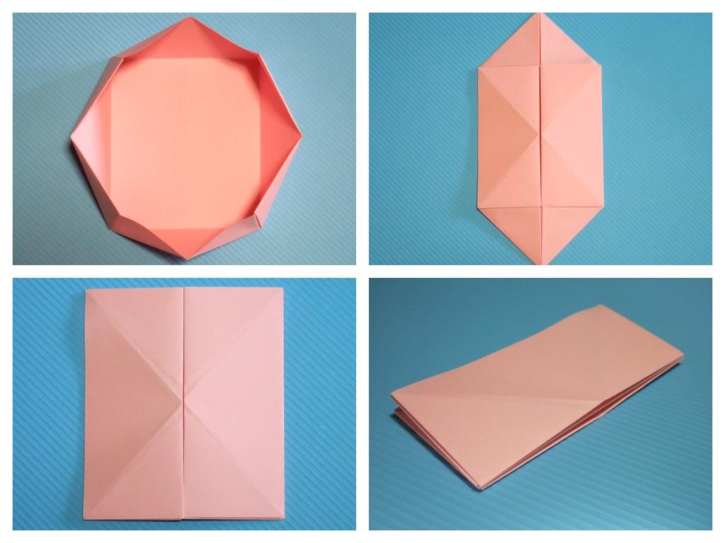 すべての折り紙 紙 箱 折り方 : オシャレな折り畳み八角容器 ...