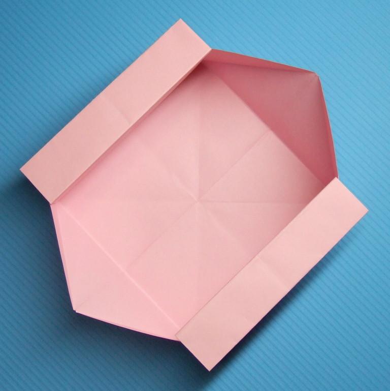 紙箱の折り方(伝承箱折り紙 ... : 折り紙 折り方 箱 : 折り方