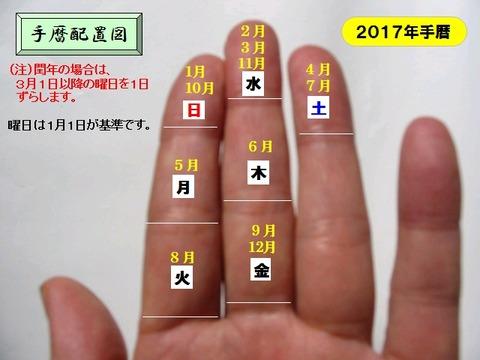 2017手暦