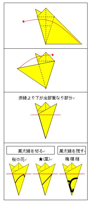 簡単 折り紙 : 折り紙 星 切る : sennen.ldblog.jp