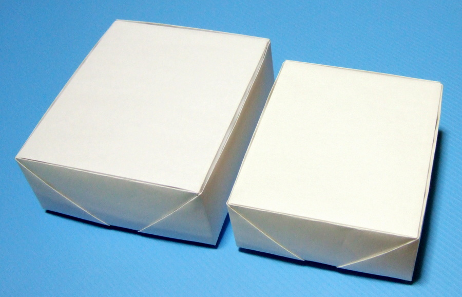 A4サイズ: 約100×112×49mm(身 ... : 折り紙 箱の折り方 : 折り方