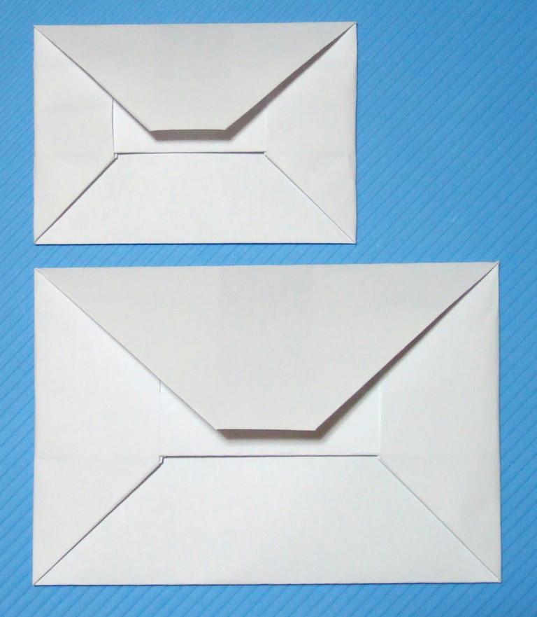 すべての折り紙 a4用紙 折り方 : 実用になる折り紙の封筒(ポチ ...