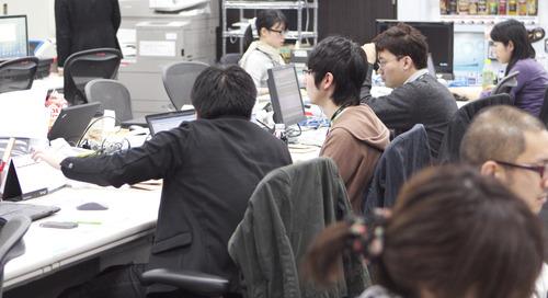 ニュース部門のオフィス風景