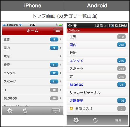 アプリのUI・挙動