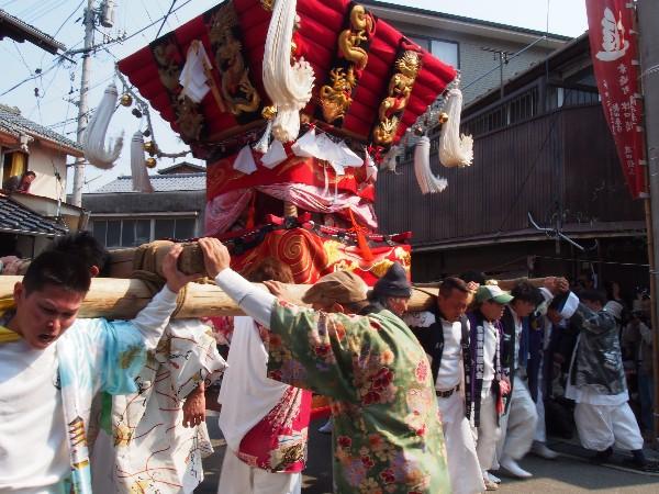 三原能地春祭り「ふとんだんじり...