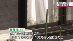 60歳刃物男に警察官が発砲 1発が男の足に当たりけが 茨城