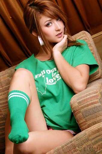 緑のTシャツが可愛いリアディゾン