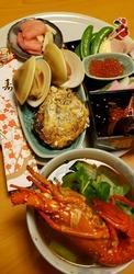 正月蛤と牡蠣 いせえびの味噌汁