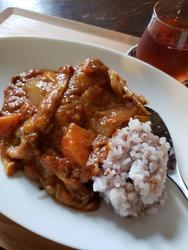 五穀米のごぼうカレー