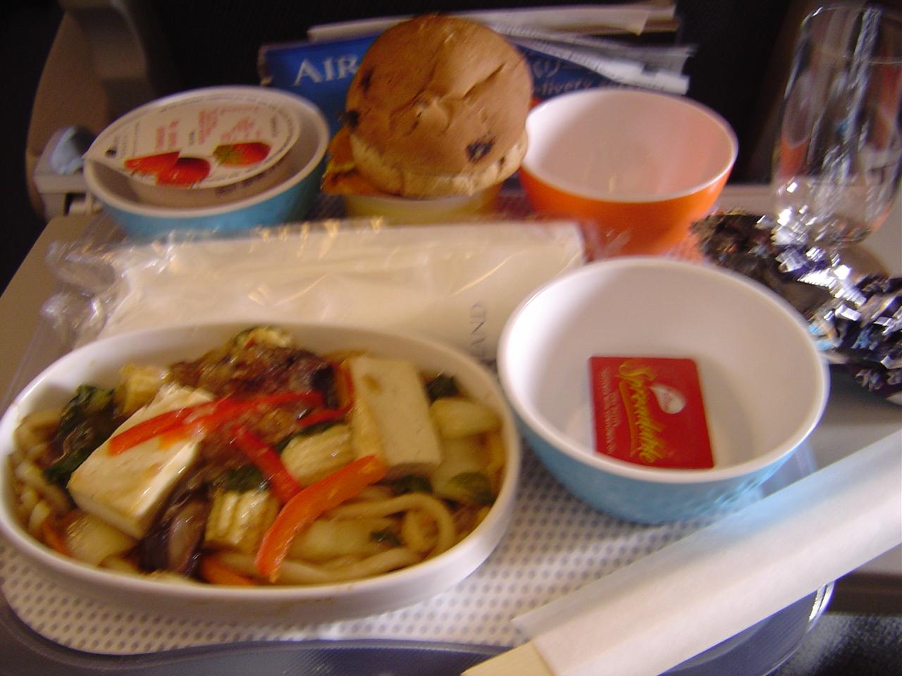 NZ帰り1回目の機内食
