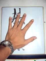 琴奨菊の手形に池っちの手